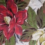 Floral Barkcloth Curtain for Sale