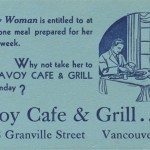 Dinner at the Savoy Cafe – Dining with Vintage Restaurant Dishes
